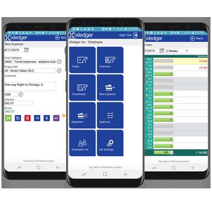 Xledger Mobile Showcase Vector Small