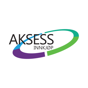Logoen til Aksess Innkjøp, link til Aksess sin hjemmeside
