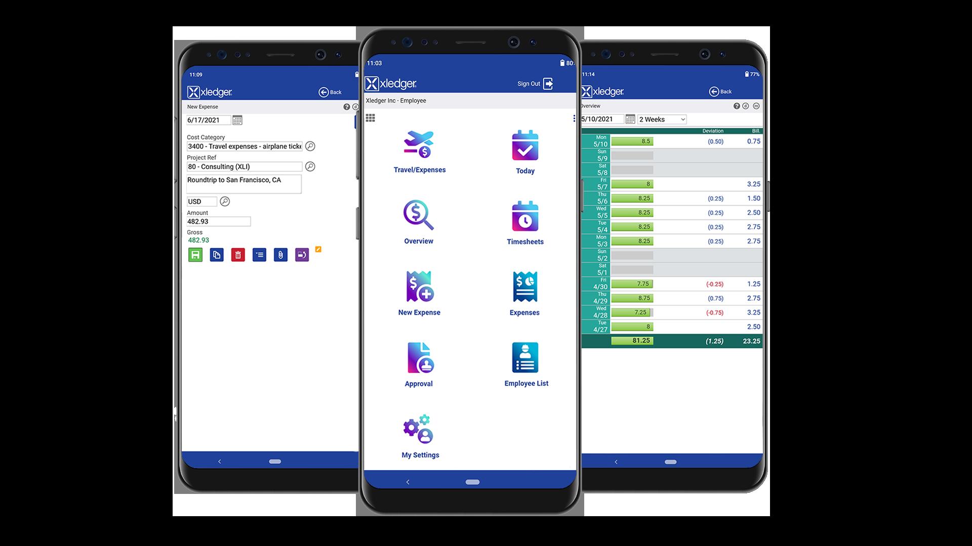 Xledger Mobile App